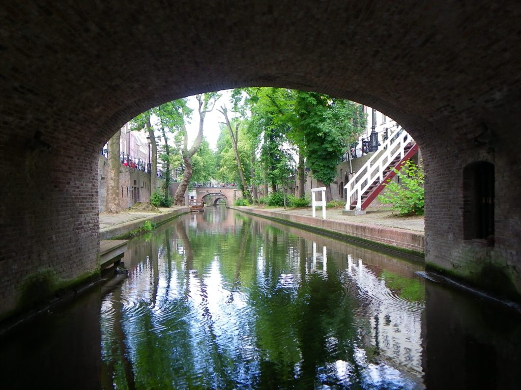 Under an Oudegracht bridge
