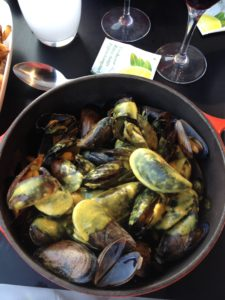 Curried mussels, a favourite dish here