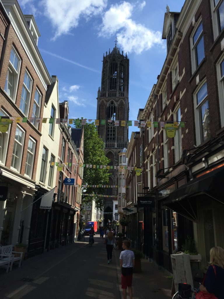 Walking towards the Dom Tower