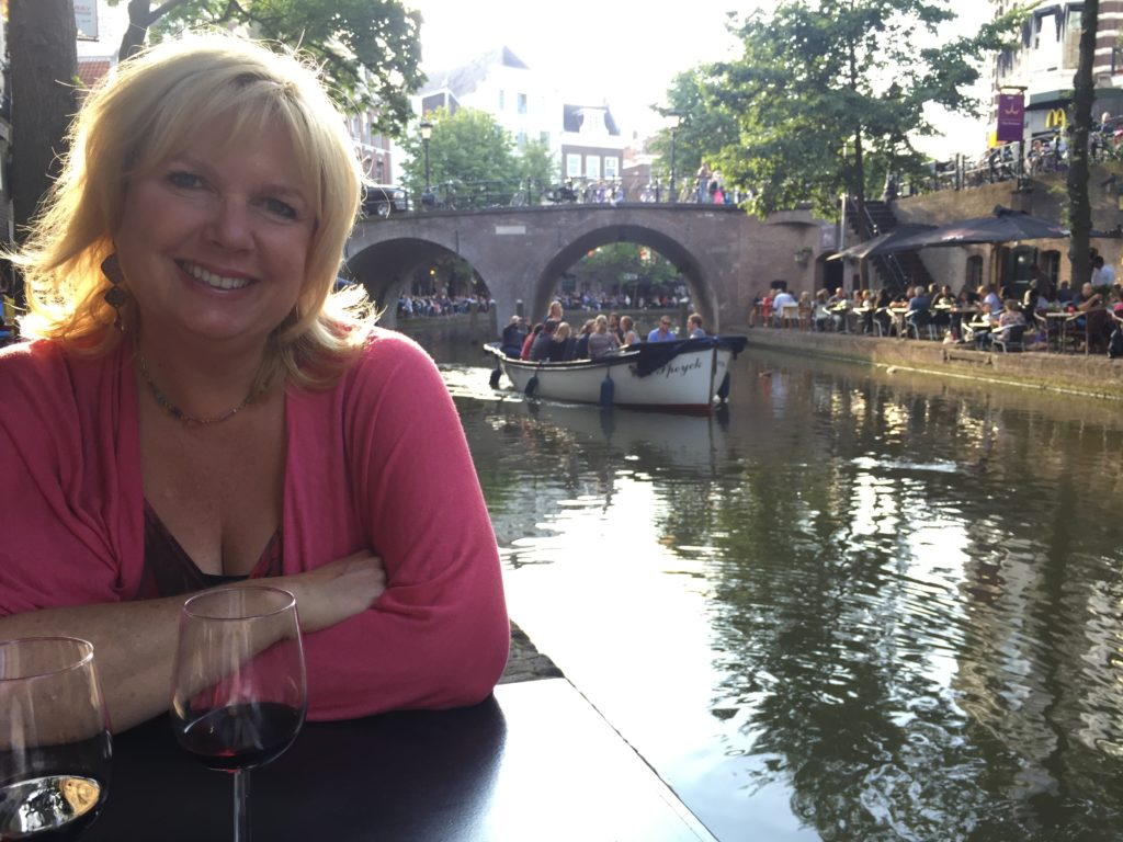 Karen on the canal