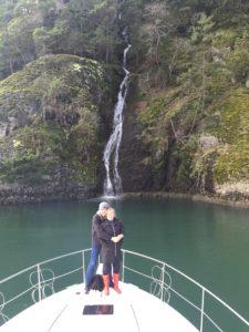Waterfall in Sansum Narrows