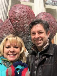 Karen & Del on museum steps