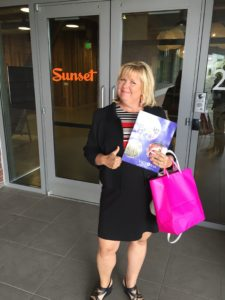 Karen at Sunset Magazine HQ