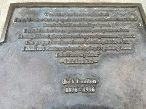 Jack London plaque, Oakland
