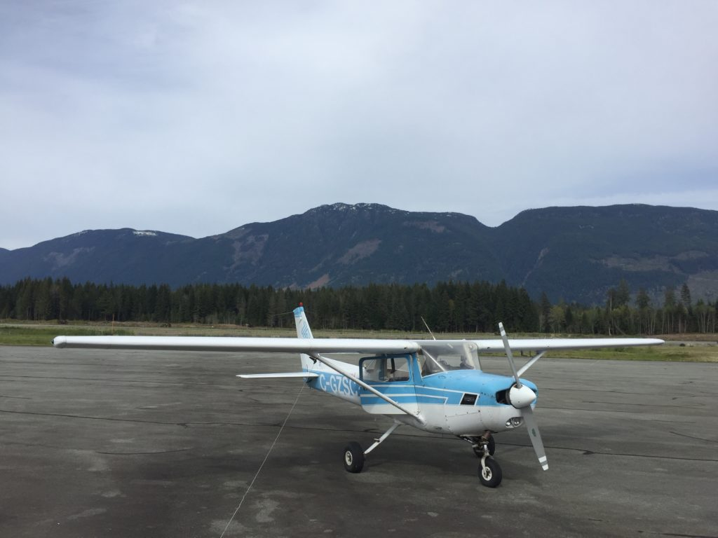 At the Port Alberni airport